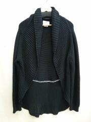 20ss/circle cardigan./カーディガン(薄手)/FREE/コットン/ブラック/黒/無地