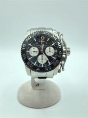 H635160/KAHKI ACTION/クロノグラフ自動巻腕時計/アナログ/ステンレス/BLK/SLV