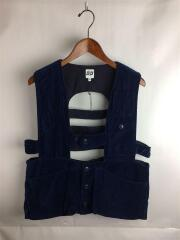 17AW/エーアイイー/Game Vest Cotton Velveteen/ゲームベスト/M/ベロア/ネイビー