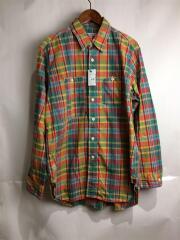 エンジニアードガーメンツ/Work Shirt/オーバーサイズ/長袖シャツ/M/コットン/ORN/チェック