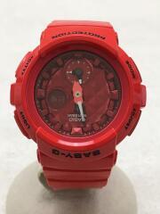 カシオ/クォーツ腕時計・Baby-G/デジアナ/RED/RED/BGA-195M