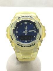 カシオ/G-SHOCK/イルカクジラ/クォーツ腕時計/デジアナ/BLU/YLW/G-100K