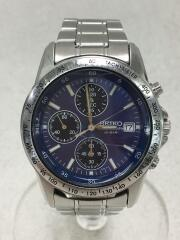 クォーツ腕時計/アナログ/ステンレス/BLU/SLV/セイコー