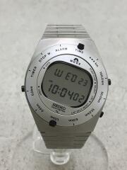 クォーツ腕時計/デジタル/ステンレス/SLV/セイコー/A825-00A0/speed master 復刻