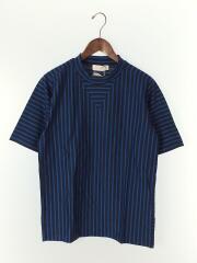 Tシャツ/M/コットン/NVY/ストライプ