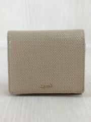 JW07-01/ヘキサゴン/2つ折り財布/エンボスレザー/BEG