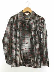オープンカラーシャツ/ザリガニ柄/長袖シャツ/S/コットン/BLK/総柄/SHL1705483