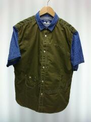 20SS/SHORT SLEEVE CONTRACT SHIRT半袖シャツ/L/コットン/KHK/WE-B033