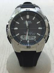 ソーラー腕時計・WAVECEPTOR/デジアナ/BLK/BLK/WVA-M640-1AJF