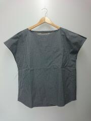 フレンチスリーブプルオーバーシャツ /半袖シャツ/14/コットン/GRY/チェック