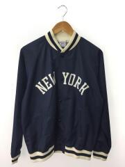 NEW YORK/スタジャン/M/ポリエステル/NVY/C8-K613