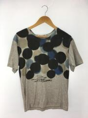 Tシャツ/M/コットン/GRY/総柄/S17103