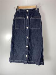 20SS/Le Denime/フロントボタンスカート/36/デニム/IDG/20-060-912-7801-1-0