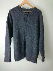 20AW/Lowgauge Knit Cardigan/38/ウール/GRY/12020536