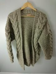 Cable HandKnit Cardigan//38/ウール/GRY/毛玉有/11820518