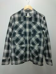 6 Pocket Shirt/6ポケット長袖シャツ/M/コットン/GRY/チェック/使用感有