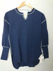 Rosary moon/20SS/Back Open Thermal Top/FREE/コットン/NVY