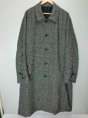 19AW/OVER SLEEVE INVESTIGATED COAT Gun club check/S/ウール/GRY