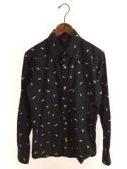 California Duck Shirts/長袖シャツ/S/コットン/BLK/SHL1708490