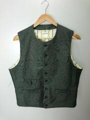 N Gents Vest/ベスト/42/コットン/GRY/ヘリンボーン/NK21-V001