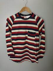 STRIPED RAGLAN 4/5 Sleeve Shirts with POCKET/M/コットン/マルチカラー