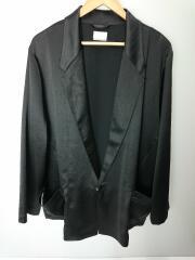 ヴィンテージドレープサテン ラペルビッグジャケット/3/ポリエステル/BLK/810553001