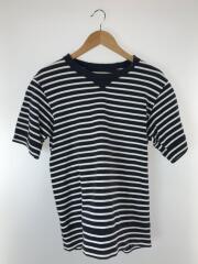 Tシャツ/1/コットン/NVY/ボーダー/16-01043M/ダメージ加工/2016年製