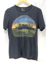 Tシャツ/S/コットン/ダークグレー/プリント/チャコール/モアイ/イースター島