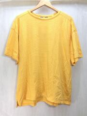 US1546/COTTON CASHMERE TEE/Tシャツ/3/コットン/イエロー/ボーダー/古着