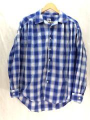 Painter Shirt/Shadow Plaid/20ss/長袖シャツ/XS/コットン/ブルー/チェック