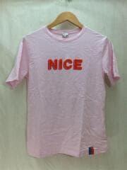 kule/The Modern(NICE)/ロゴプリントTシャツ/S/コットン/ピンク/
