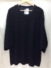 VELOUR LOGO JQ S/S BIG-T/Tシャツ/カットソー/2/コットン/黒/ブラック
