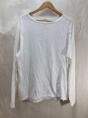 18SS MIX PANEL L/S/ロンt/長袖Tシャツ/S/コットン/白