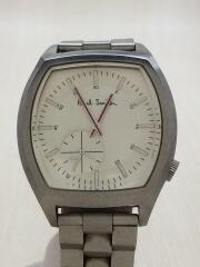 クォーツ腕時計/アナログ/ステンレス/CRM/SLV
