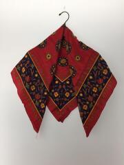 スカーフ/シルク/RED/総柄