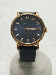 ベイカー/MBM1329/クォーツ腕時計/アナログ/レザー/NVY