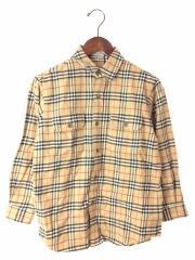 長袖シャツ/140cm/コットン/BEG/チェック