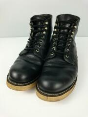 RED WING/ブーツ/US9.5/BLK/レザー/傷汚れ有