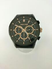クロノグラフ/クォーツ腕時計/15001J/アナログ/ステンレス/BLK/BLK