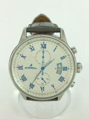 タイムオラ エレット/OR-0040/クォーツ腕時計/アナログ/レザー/WHT