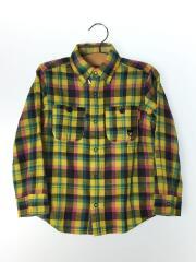 リバーシブル長袖シャツ/120cm/コットン/マルチカラー/チェック