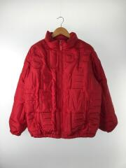 19ss/Bonded Logo Puffy Jacket/M/ポリエステル/RED
