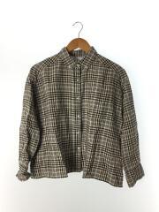 リネンワイドシャツ 長袖シャツ/0/リネン/BEG/チェック/09WFT191100/2019年モデル