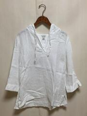 フードリネンシャツ/L/リネン/WHT/506698
