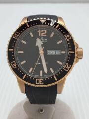 エドックス/CHRONORALLY-S/84300 37RCA NBR/クオーツ式腕時計/アナログブラック