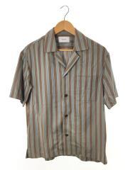 フィルストライプオープンカラーシャツ/1/レーヨン/BRW/ストライプ/109302001/19SS