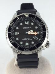 ソーラー腕時計/アナログ/ラバー/BLK/BLK/E168-S100623