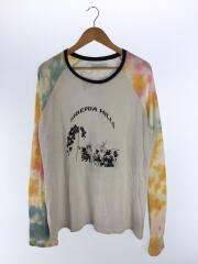 20SS/タイダイラグラン長袖Tシャツ/XL/コットン/GRY/