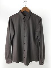 ビックシルエットウールシャツ/48(XL)/ウール/グレー/無地/1902-SH02-M206