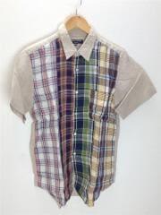 半袖シャツ/SS/リネン/マルチカラー/チェック
